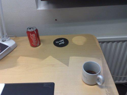 Sotigt skrivbord