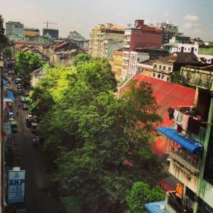 Utsikt över centrala Yangon