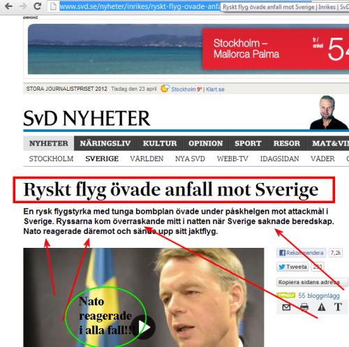 Ryssland övar bombkrig mot Sverige. Ingen visste något. Ingen gjorde något. Förutom Nato, som Sverige skyndsamt borde gå med i!