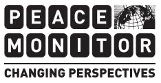 Rapporten Peace Monitor lyfter fram fredsinitiativ som tas världen över. Den har utkommit i två utgåvor hittills.